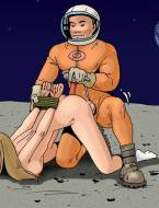 Dominating a sexy astronaut
